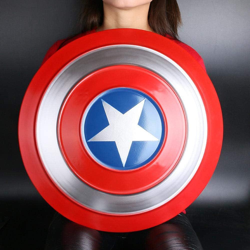 LXY Action Figures 1: 1 Capitán América Escudo De Aleación, Zhenjin Shield Decoración del Hogar Cosplay Juguetes, Accesorios De Halloween Regalos -18.9 Pulgadas A