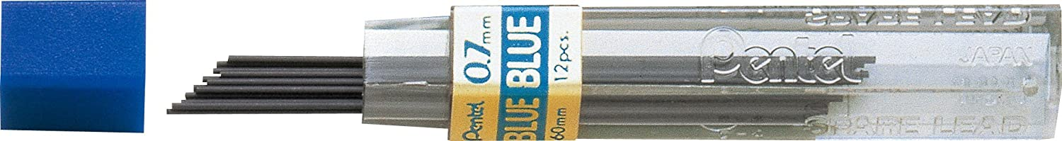 Pentel PPB-5 Color Lead Refills, Blue, 12 Leads Per Tube, Hb Grade, 0.5mm Point Size, 144 Pieces Of Lead 12