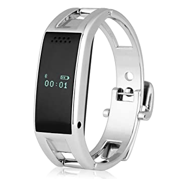 Excelvan OLED, Reloj Bluetooth Smartwatch (Sync llamadas SMS ,Música, Recordatorio, Anti-pérdida) Para Android Smartphone