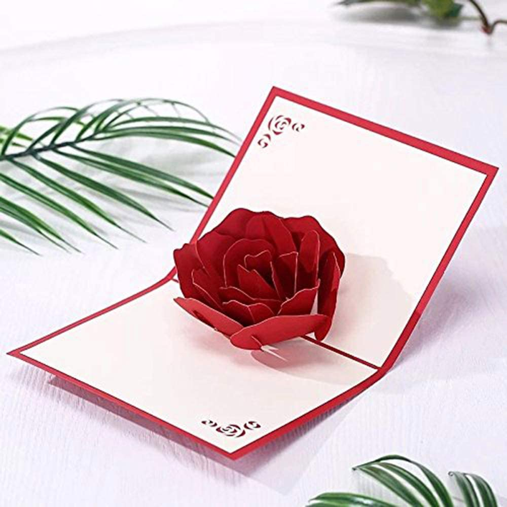 Amazon.com: Valentines Day Rose 3D Pop Up Cards - Handmade Pop Up Greeting  Cards Gift Ideas For Girlfriends Wife Husband Couple, Wedding Gifts  Invitations Birthday Thank You Cards Graduation Business Gifts: Office