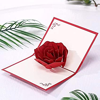 Mothers Day Rose 3D Pop Up Cards