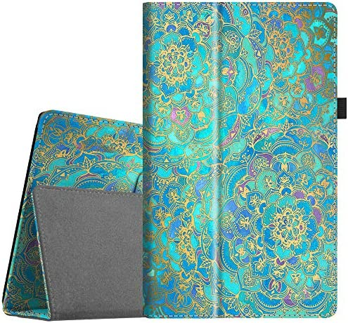 Fintie Folio Case for All-New Amazon Fire HD 10 Tablet (Compatible with seventh and ninth Generations, 2017 and 2019 Releases) - Premium PU Leather Slim Fit Stand Cover with Auto Wake/Sleep, Shades of Blue