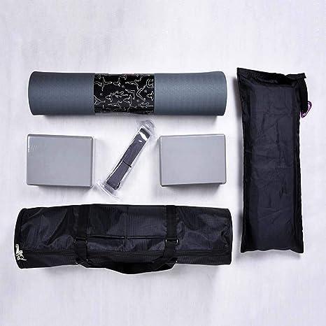 Qys Estera De Yoga Ladrillo De Yoga Cinturón Elástico De ...