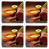 MSD Square Coasters Non-Slip Natural Rubber Desk Coasters design 12862924 Spa