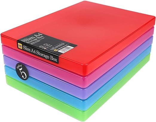 Cajas Weston - Cajas de almacenamiento A4 Slim para tarjetas y ...