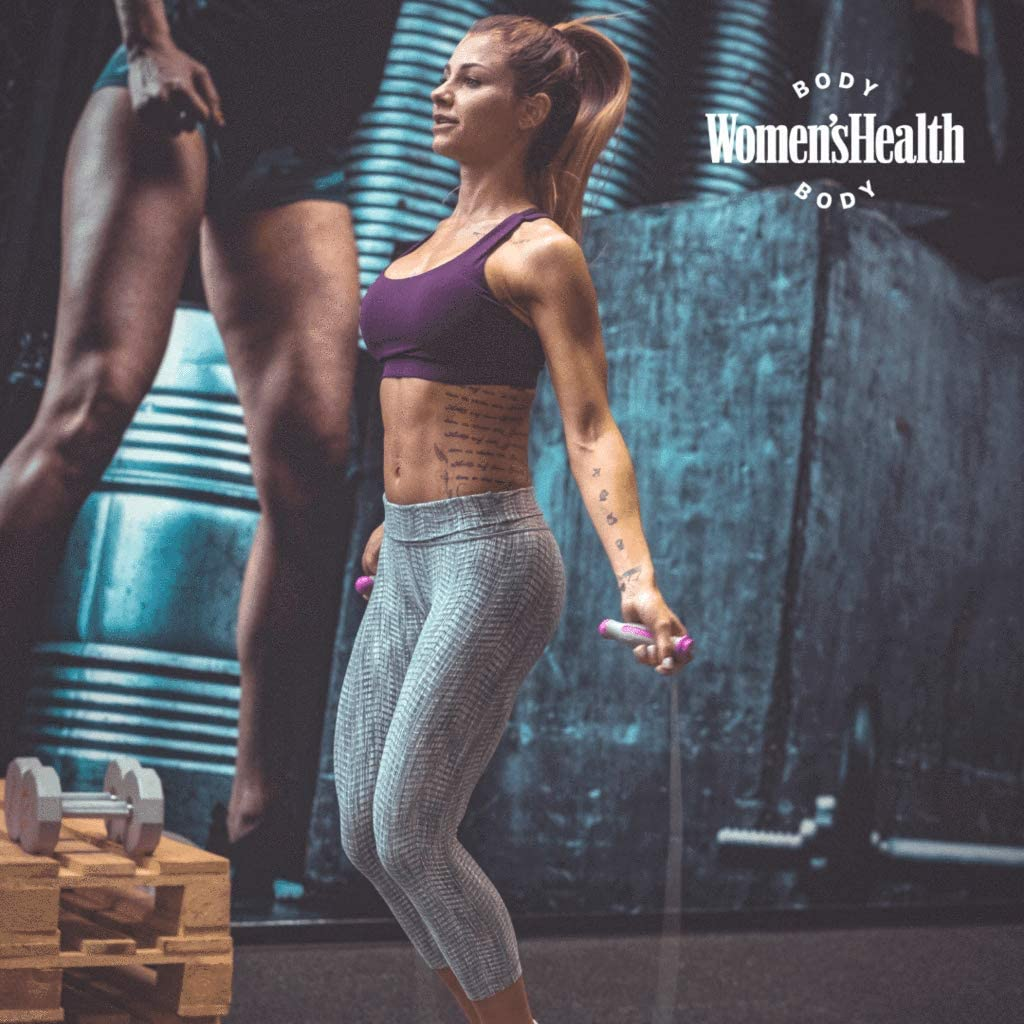 Crossfit para Fitness, Resistencia y quitamiento Entrenamiento de intervalos y Double Unders Comba de Saltar Ideal para Boxeo HIIT MMA Womens Health BODY