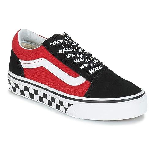 vans rojo y negro