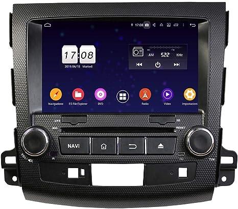 Android 9.0 - Navegador GPS para Peugeot 4007 (2006-2013), Pantalla táctil de 8 Pulgadas, Reproductor de DVD, Radio Bluetooth: Amazon.es: Electrónica
