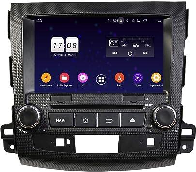 Android 9.0 - Navegador GPS para Coche para Citroën C-Crosser(2006-2013), Pantalla táctil de 8 Pulgadas, Reproductor de DVD, Radio Bluetooth: Amazon.es: Electrónica