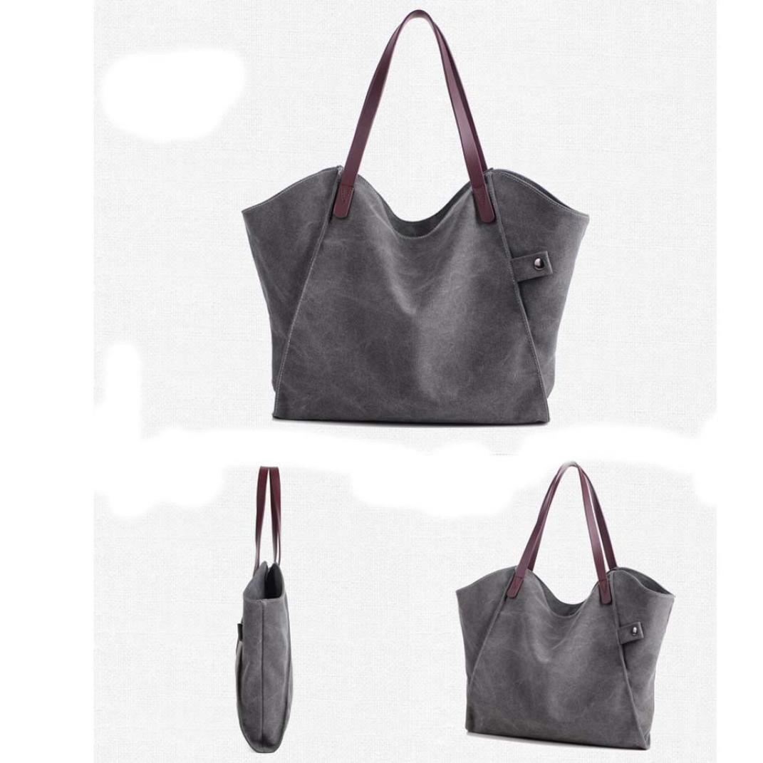f8705733f04 Bolso Bandolera Bolsa de hombro de lona Grande Azul para Mujer y Shoppers  por ESAILQ I