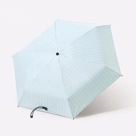 Paraguas Compact De Secado Rapido Paraguas Sombrilla Paraguas Plegable Mini Luz Ultra Pequeño De Cinco Bolsillo