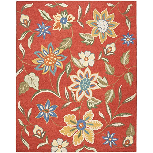 Safavieh Blossom Collection BLM673A Handmade Rust and Multi Premium Wool Area Rug (8'9