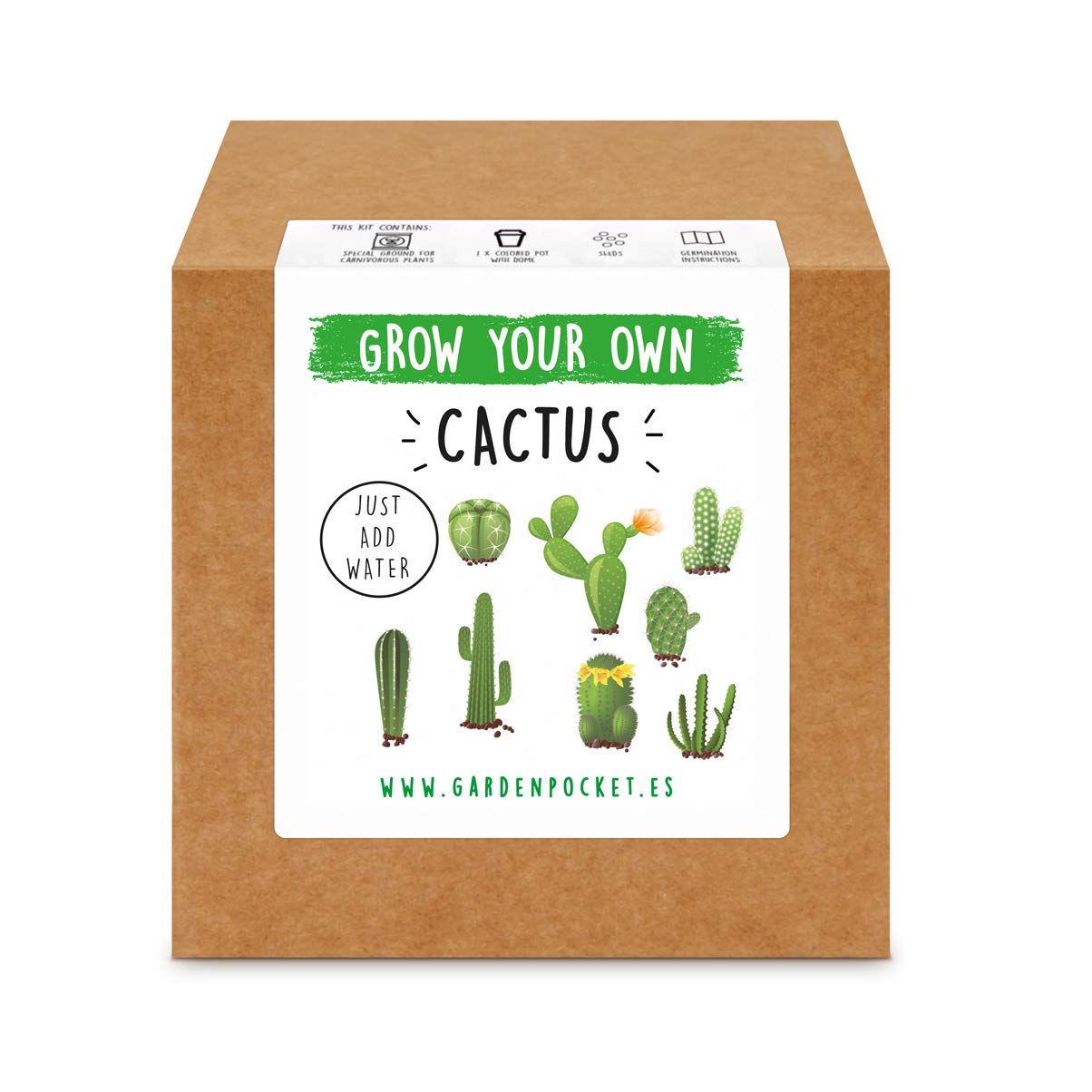 Garden Pocket - Kit Grow You Own Cactus