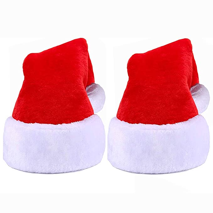 Amazon.com: 2 gorros de Papá Noel para niños y niñas ...