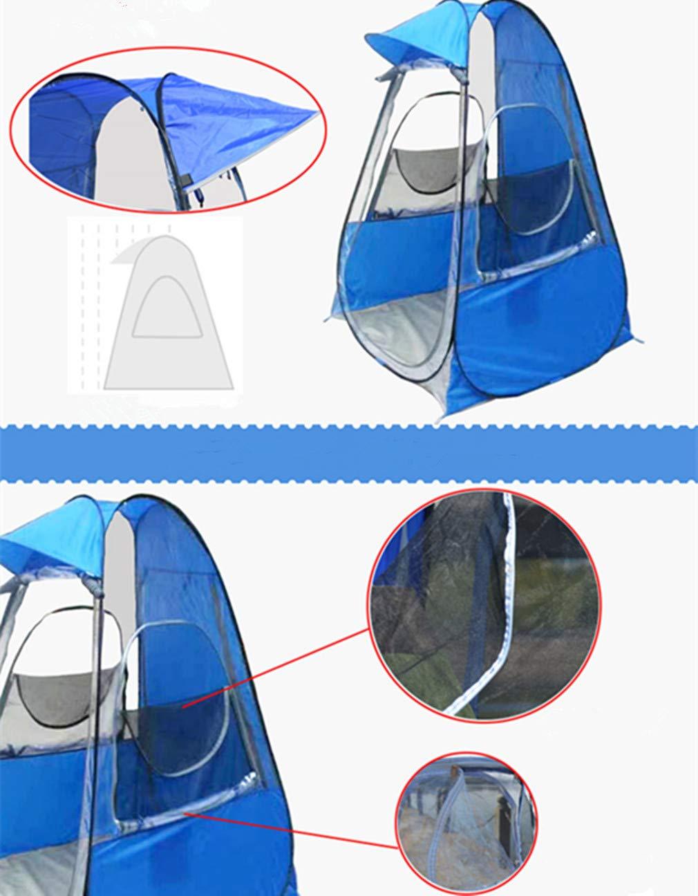 KRUIHAN Tienda de Pesca Port/átil Emergente Azul Acampar al Aire Libre Impermeable al Aire Senderismo 1 Personas Cobertizo de Paraguas Liviano