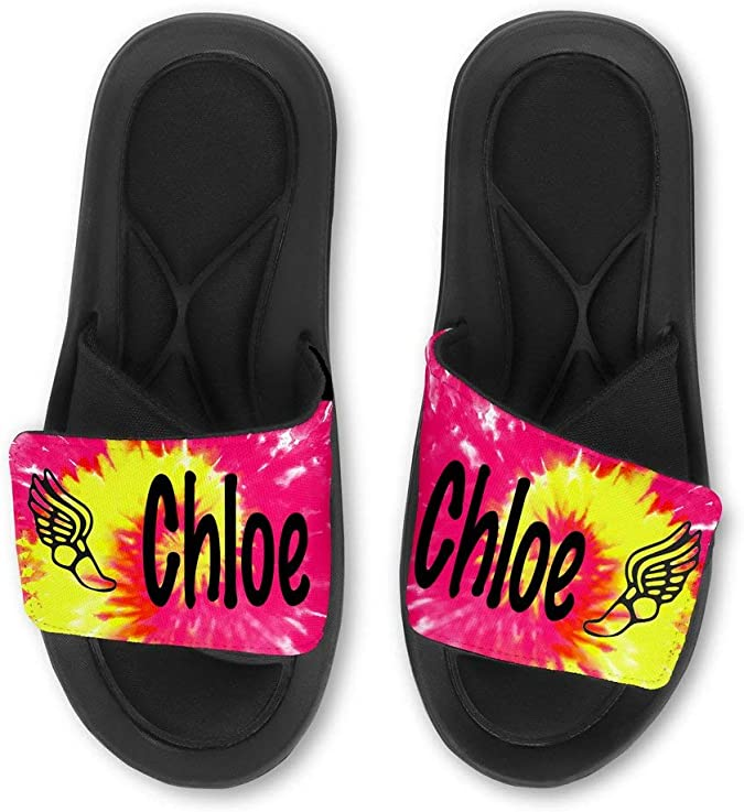 Personalized Custom SPACE DONUT DOUGHNUT Sandals  Slides  Flip Flops Choose your name and font!