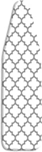 Whitmor Deluxe Ironing Board Cover and Pad, Medallion Gray