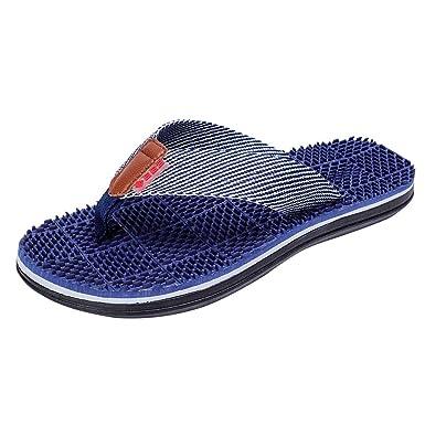 ZARLLE_chanclas Chanclas de Playa de Hombre, Unisex Verano Raya Chanclas Zapatos de Hombres Sandalias de Playa Interior y Exterior Casual Zapatilla ...
