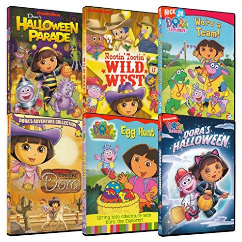 Dora Explorer 6-Pack Collection #2 (Dora: Halloween Parade / Dora: Rootin' Tootin' Wild West / Dora: We're a Team! / Dora: Cowgirl Dora / Dora: Egg Hunt / Dora's ()
