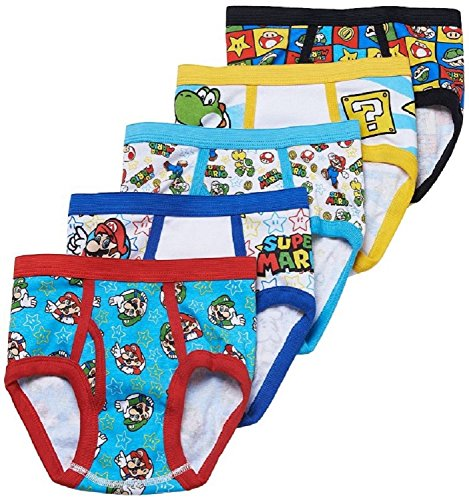 Super Mario Bros. 5-Pack Briefs Boys Underwear
