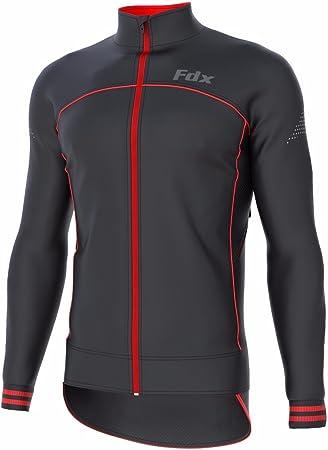 FDX Tejido Softshell, Transpirable, Cortavientos Chaqueta de Ciclismo para Hombre
