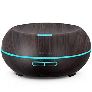 URPOWER Wood Grain Aromatherapy Essential Oil Diffuser
