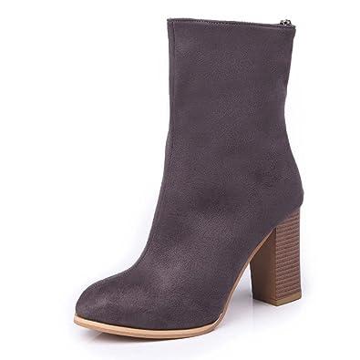 Chaussures femme bottillon High Heels bottes gris 35 B8vVWijcnX