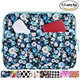 13.3 inch Laptop Sleeve Case Bag for Macbook Air 13 Pro Retina 13 Computer Bag for 13.3 Inch Tablet (Blue Chamomile)