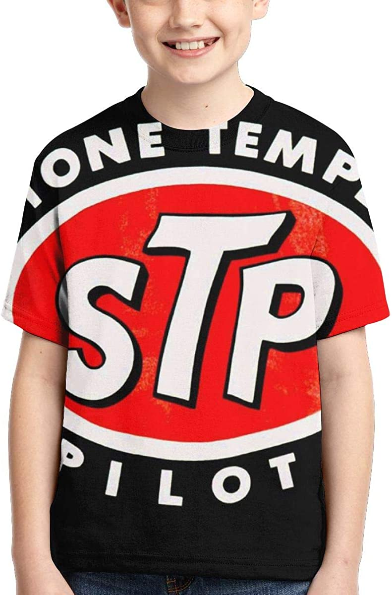 BowersJ Childs Stone Temple Pilots Logo Design 3D Printed Short Sleeve Tees for Girls /& Boys Black