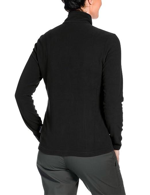 Black Jacket Wolfskin Sport Fleecejacke Fleece amp; Damen Jack Jacke Gecko M Freizeit Z1qwU