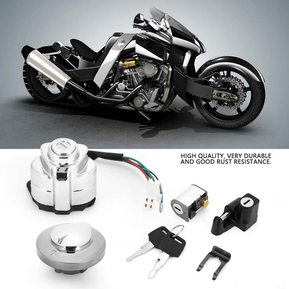 Kimiss Interrupteur dallumage casque volant Lock Cl/é pour Vt600/Shadow 400/750