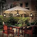 Lucy LED Solar Power Lamp Hanging Patio Umbrella Light Outdoor Lanterns Candle Lights