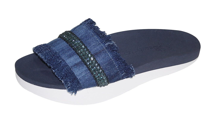 18aa5761d3bd Beautystep Damen Aktiv Fitness Sandale Jeansoptik mit Strass