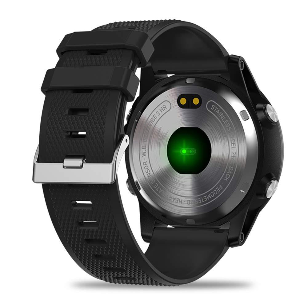 fiveschoice Reloj Inteligente Zeblaze Vibe 3 HR Registro de Actividad de Todo el día 1.22 IPS Pista de Movimiento Frecuencia cardíaca de Soporte (Negro): ...