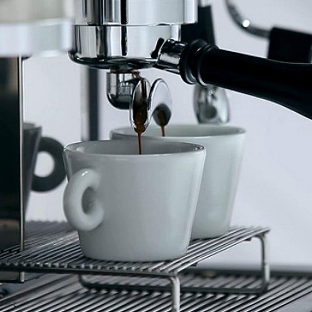 Portafiltro sin fondo para máquinas de café CREM EXPOBAR, bandeja de goteo profesional para cafetera, filtro, 2 boquillas, diámetro interior de 58 mm, diámetro exterior de 82 mm: Amazon.es: Hogar