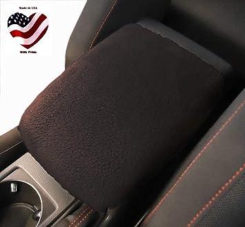 Interior Center Console Armrest Cushion Black Suede line For PONTIAC Car
