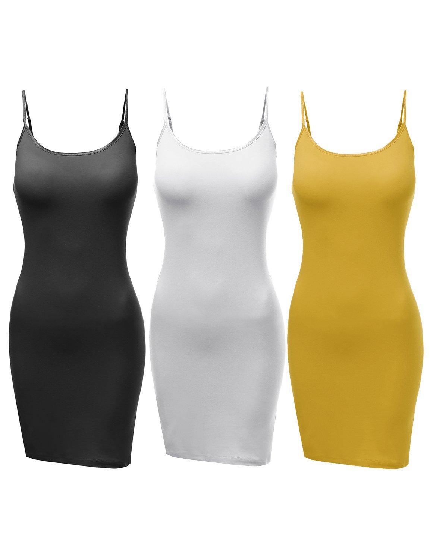 Awesome21 DRESS レディース B071WMT237 L|Aawdrv0010 Black / White / Mustard Aawdrv0010 Black / White / Mustard L
