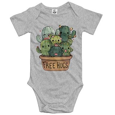 Baby Climbing Clothes Romper Cartoon Free Hugs Infant Playsuit Bodysuit Creeper Onesies Ash