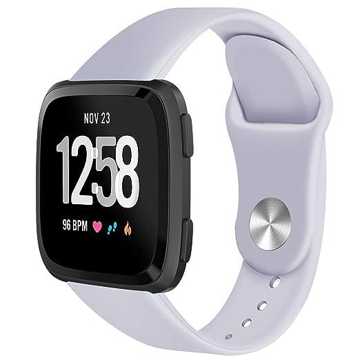 Bandas Deportivas para Fitbit Versa, reemplazo de Silicona Suave Correa clásica para Banda Reloj Inteligente para Ejercicios de Javpoo: Amazon.es: Relojes