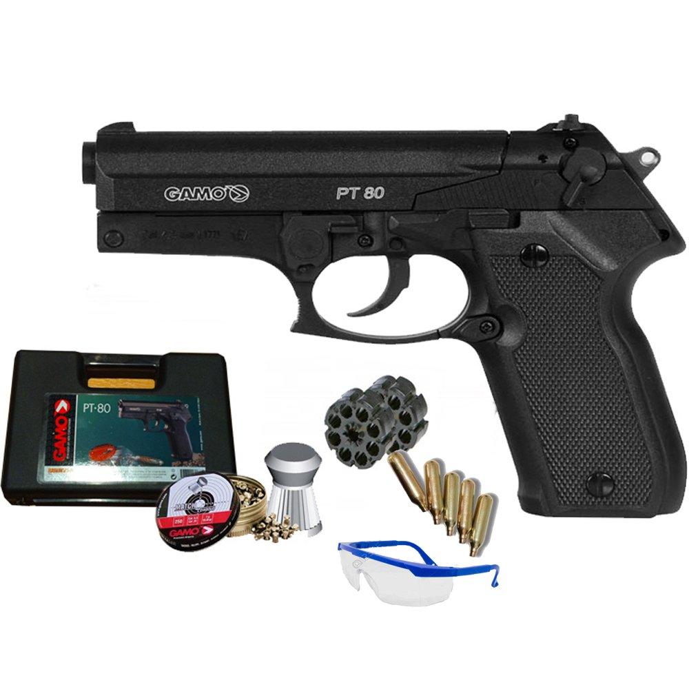 PACK pistola Gamo PT 80 arma de aire comprimido CO2 3,5 julios
