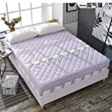 SL&CL Cotton bed cover,Single wrap around dust ruffle mattress cover 1.8 m1.5 bed non-slip dust cover linen bedding quilted fitted mattress pad-E 120x200cm(47x79inch)