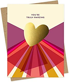 product image for Gold Heart Amazing Foil-Stamped Congratulations Card by Night Owl Paper Goods