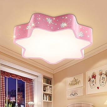 Perfekt LOFAMI Schneeflocke Form LED Kinderzimmer Deckenleuchte, 24 Watt Acryl  Schatten Metall Pendelleuchte Nette Mädchen Schlafzimmer