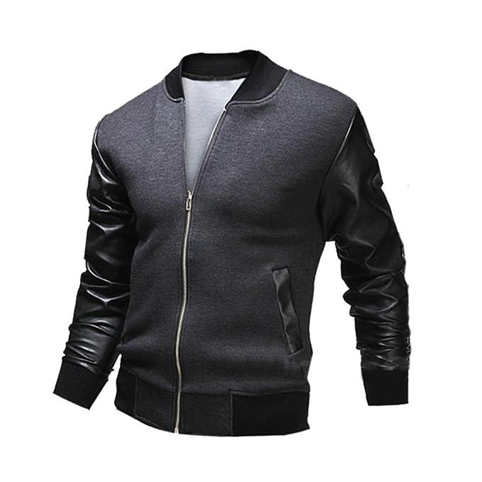 new style 12c78 4454e Koly Hot Uomini combattono Cappotto Giacca di Pelle Slim Inverno Slim  Collar Rivestimenti Casuali degli Uomini di Moda