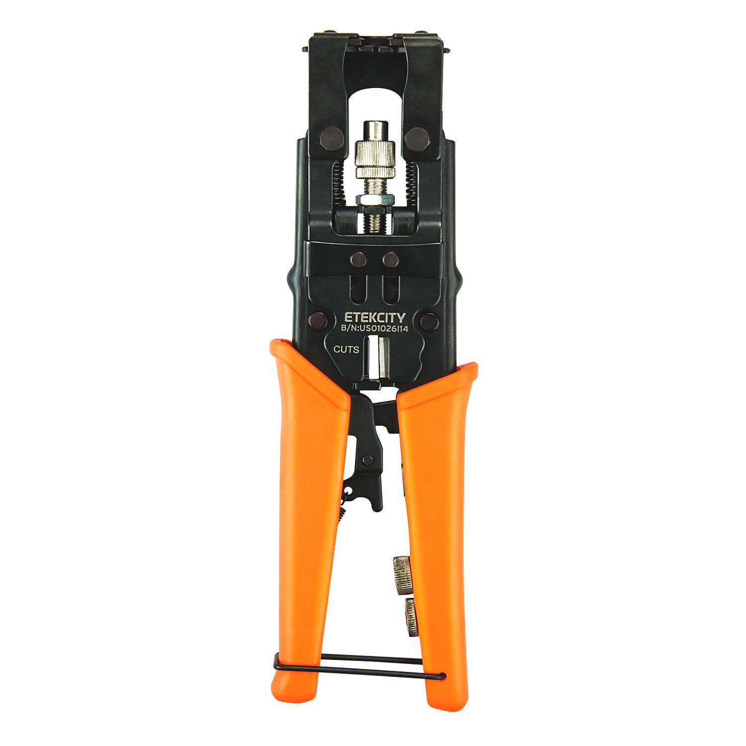 Etekcity Coax Cable Crimper, Multifunctional Compression Connector Adjustable Deluxe Tool for F BNC RCA, RG58 RG59 RG6, Universal Wire Cutters by Etekcity