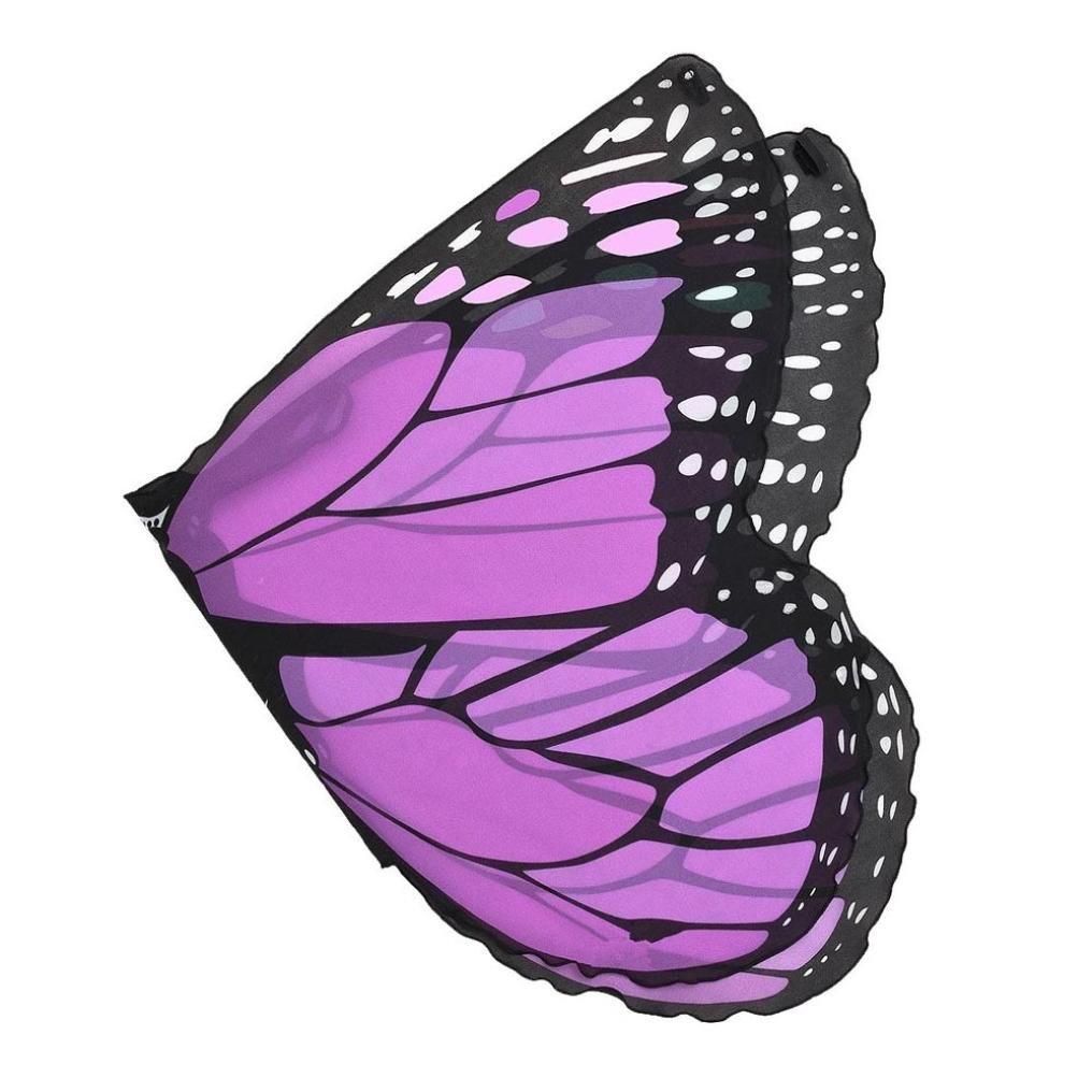 OVERDOSE Kind Kinder Jungen M/ädchen Karneval Kost/üm schmetterlingsfl/ügel Kost/üm Faschingskost/üme Butterfly Wing Cape Kimono Fl/ügel Schal Cape Tuch