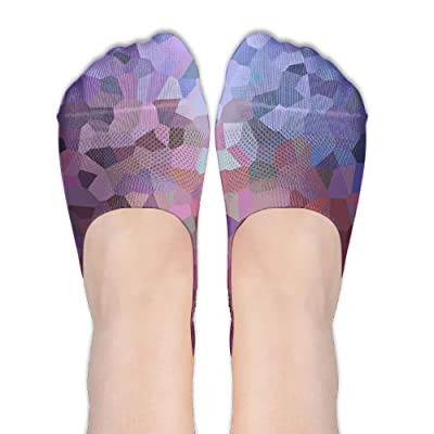 Abstract Wallpaper Pattern DIY Printed Pattern Casual Low Cut Socks No-show Liner Invisible Polyester Cotton Sock For Womens (One Pair)
