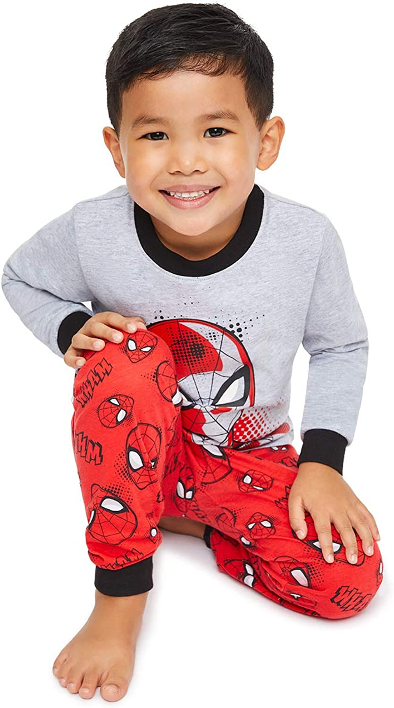 All Over Print Cotton Spider-Man Cuffed Pant Size 6X Jellifish Kids Boys 2 Piece Pajama Sleep Set