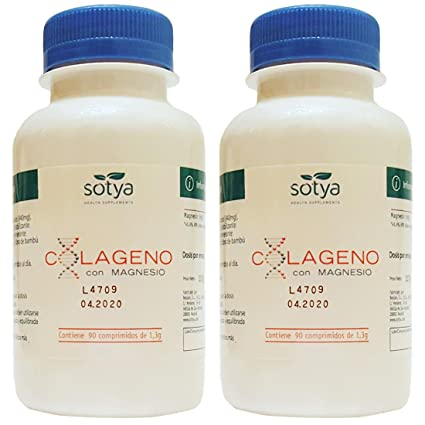 COLAGENO CON MAGNESIO 1, 3gr. 2 x 90 Comp. SOTYA