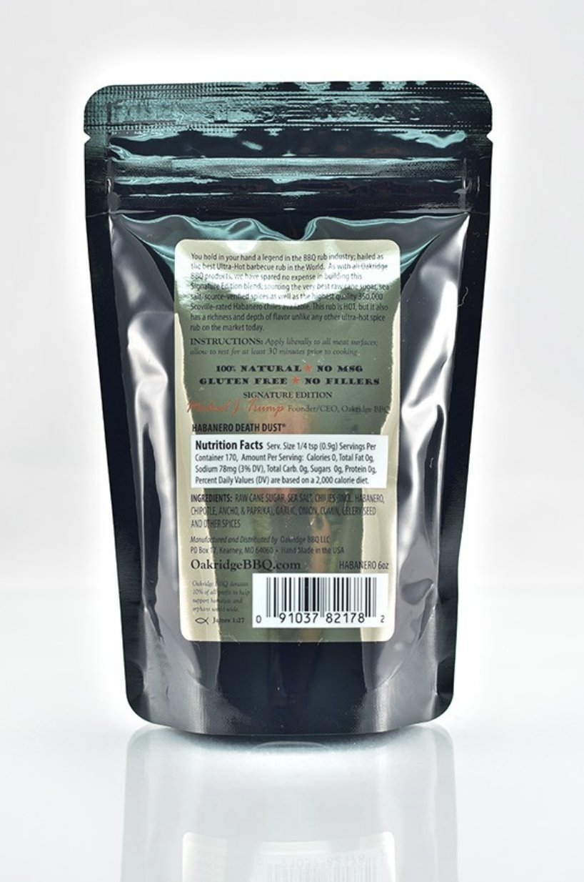 Oakridge BBQ Signature Edition Habanero Death Dust - 1 Lb